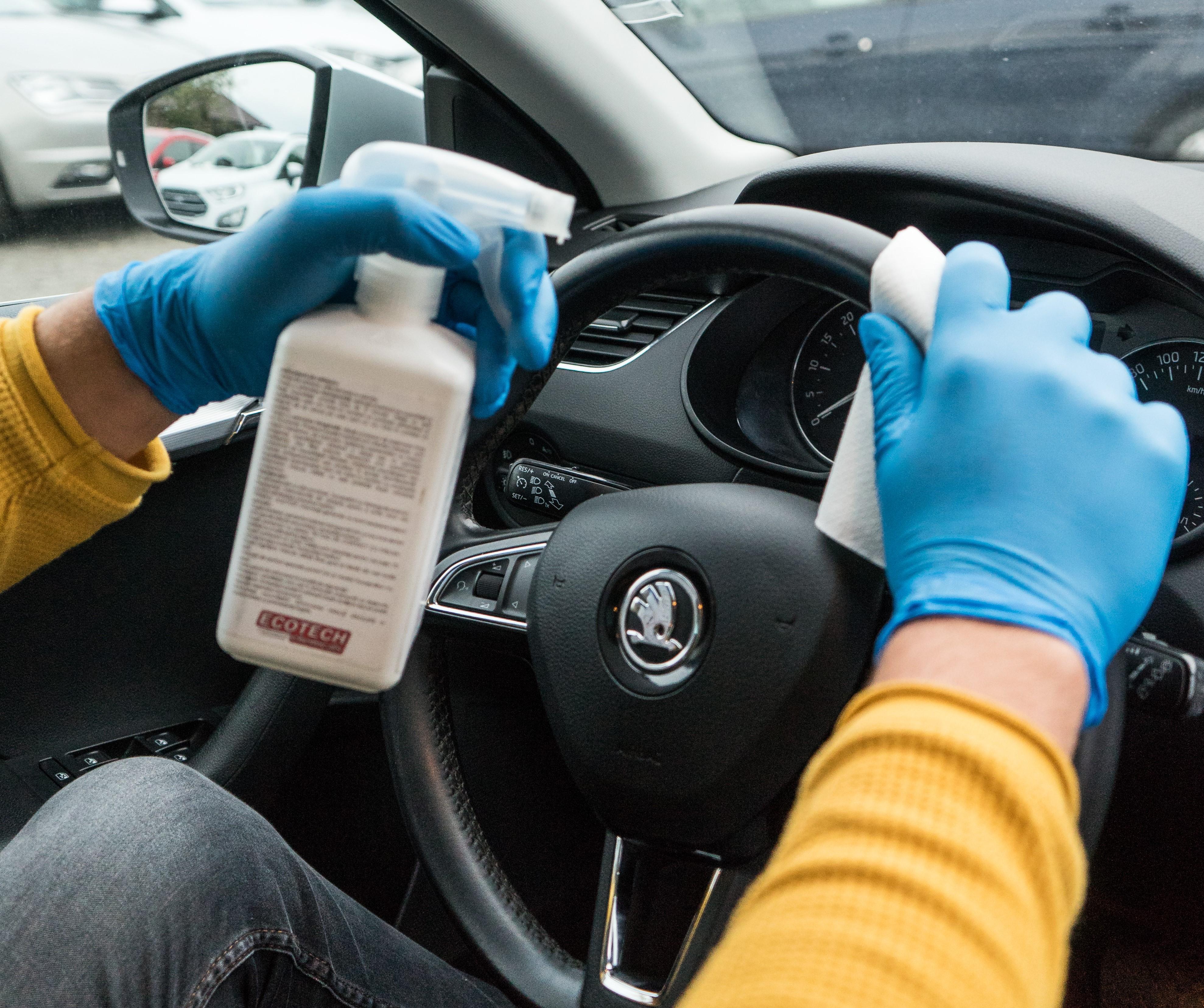 Dezinfectare masini de inchiriat BDV Bestauto